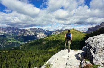 Ausblick Wandern Plattkofel Langkofel Dolomiten