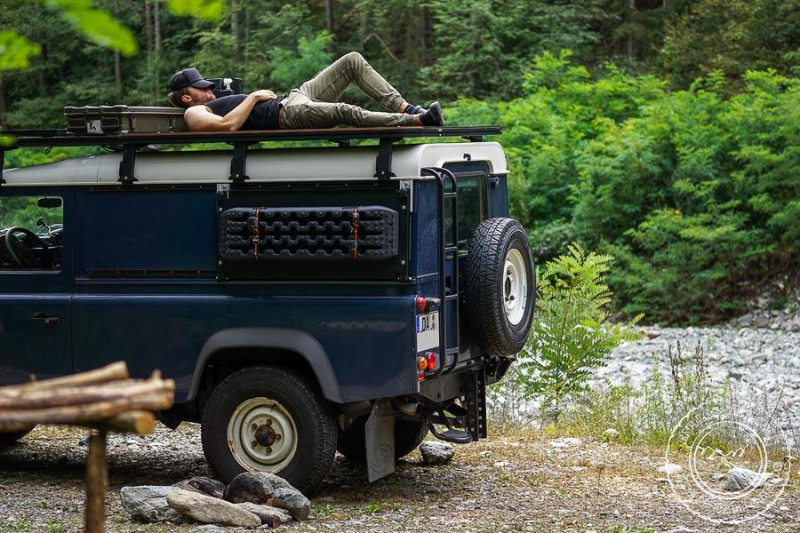 Defender Reisemobil Dachterrasse Freistehen